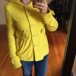 BB DAKOTA Jack Bright Yellow Hoodie Jacket